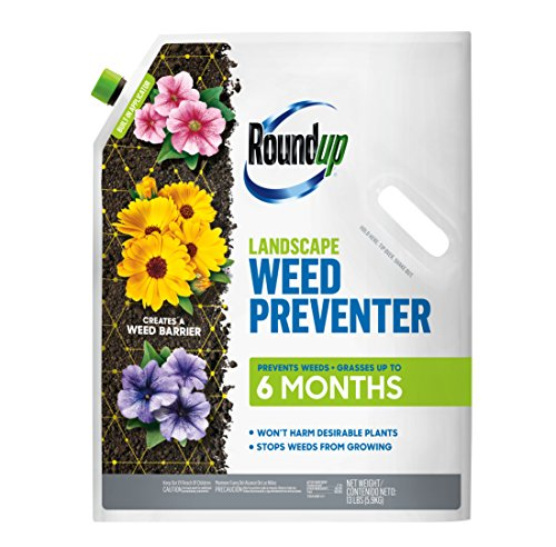 Roundup Landscape Weed Preventer: Creates a Barrier, Easy to Apply, Just Shake on Perennial & Annual Flower Beds, Around Shrubs & Trees, and in Flowering Bulb Gardens, 13 lb.