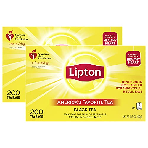 Lipton Tea Bags For A Naturally Smooth Taste Black Tea Iced or Hot Tea That Can Help Support a...