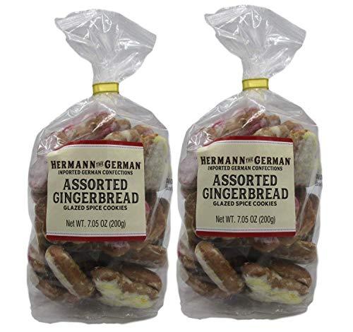 Hermann the German Pfeffernusse - 2 7.05OZ Bags of Glazed Spice Cookies (Assorted Gingerbread)