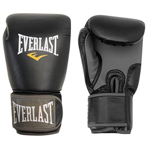 Guantes de boxeo, de Everlast, para entrenamiento, artes marciales, hombre, color negro, tamaño 340 g