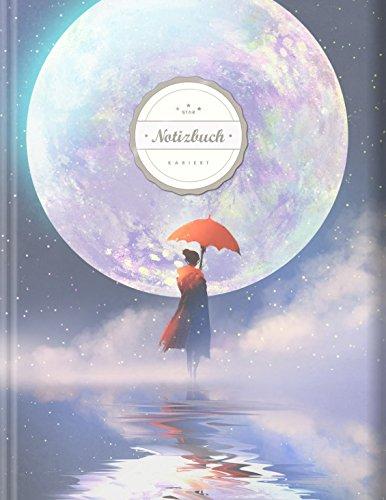 """Kariertes Notizbuch (©Star, A4, 156 Seiten, Softcover)    Mit Register + Doppelrand    Dickes Notizheft, Fester Einband, Kariert Nr. 26, Matheheft, Schulheft, Sketchbook, Tagebuch, """"Mondlicht"""""""