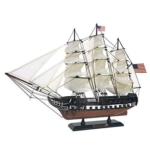 XIUYU Militärsegel Modell, USS Constitution Massivholz-Segelboot Modell, Hauptdekoration und Geschenke, 24Inch X 17inch
