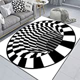 3D Visual Illusion Bedroom Carpet Captura de payaso Alfombra visual Sala de estar Dormitorio Tabla de café Matura 3D Geométrico geométrico Ilusión tridimensional Mat ( Color : 08 , Size : 50cmx80cm )