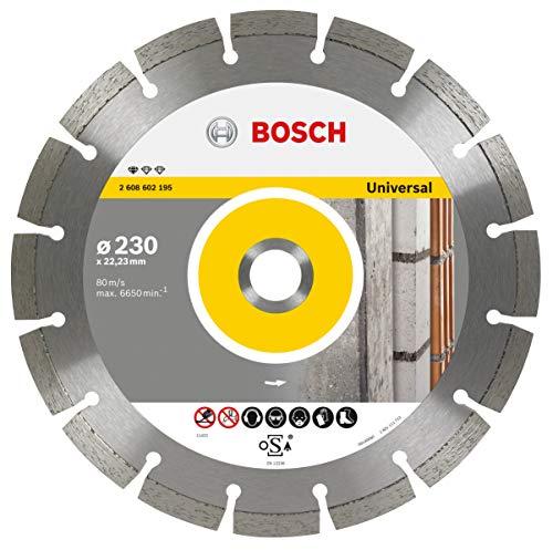 Bosch Professional Diamanttrennscheibe Standard for Universal (für Baumaterialien, Ø 230 mm, Zubehör Winkelschleifer)