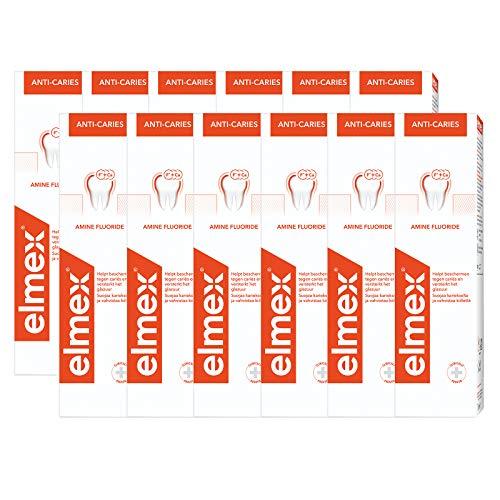 Elmex Tandpasta Anti-Cariës – 12 x 75ml – Voordeelverpakking