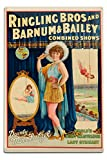 Lantern Press Ringling Bros and Barnum and Bailey - Dainty Miss Leitzel Vintage Poster USA c. 1929 (12x18 Aluminum Wall Sign, Wall Decor Ready to Hang)