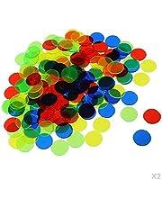 #N/A/a 200 Unids / Set Fichas de Bingo de Plástico Profesional Fichas Transparentes Accesorios de Juego