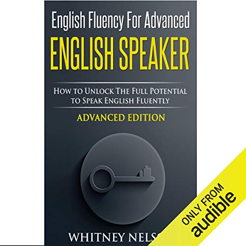 Diseño de la portada del título English Fluency for Advanced English Speaker