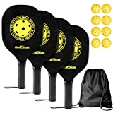 Best Pickleball Rackets - Amicoson Pickleball Paddles - Pickleball Set of 4 Review