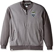 72% Cotton / 28% Polyester track jacket Twill applique w/ satin stitch embroidered team logo Adidas performance label By Adidas, the official outfitter of the MLS