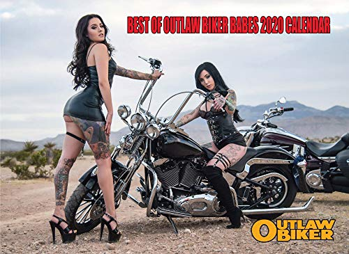 "2020 ""BEST OF OUTLAW BIKER BABES"" 12 MONTH CALENDAR - A $10 Value For ONLY $5.99"