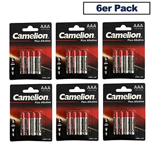 12 stuks blister AAA micro CAMELION Plus alkaline batterijen LR03, alkaline batterijen, voor pc, muis, speelgoed en afstandsbedieningen, krachtig, 48 stuks voorraadverpakking