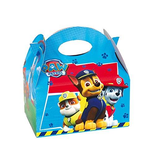 PAW PATROL 0655, Pack 4 cajitas de Carton para chuches Patrulla Canina,, Fiestas y cumpleaños