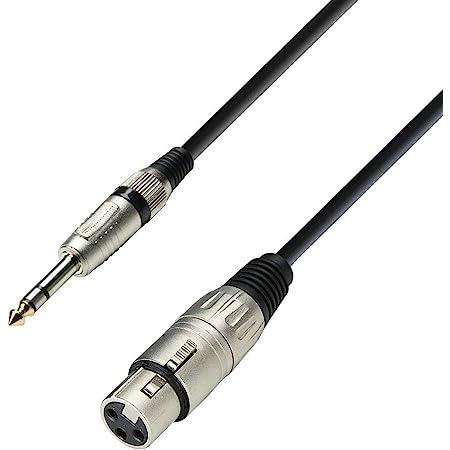 Audiokabel 3,5 mm Stereo Klinke Stecker auf XLR Stecker 1 m Adam Hall Cables