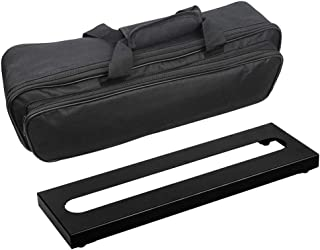 "Soyan Micro Metal Guitar Pedal Board 15.7"" x 4.9"" with Carrying Bag, Self Adhesive Hook & Loop Tapes Included"