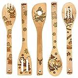 Burned Wooden Spoons Kitchen Decration Christmas Gift Idea Utensil Set Christmas House Warming...