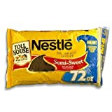 2 bag 72 oz. bag each - Total 144 oz. Semi-sweet morsels Real semi-sweet chocolate Chocolate lovers size Resealable Zip-pak