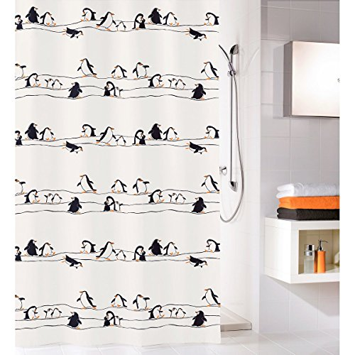 OBI .Pinguin Multicolor Duschvorhang 180 x 200cm. Ökoplast 100prozent PEVA