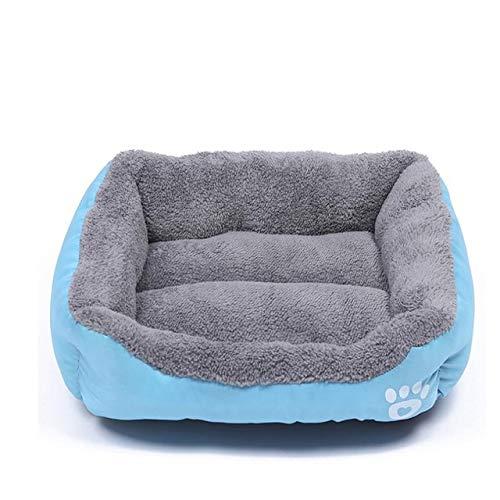 Hund Bett Pet Produkte Paw Print Zwinger Für Small Medium Large Hunde Welpen Nest Weiche Warme Katze Bett Wasserdicht Blue S 43x32cm