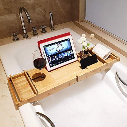 RUIXFRU Bandeja de bañera extensible para bañera, bandeja para bañera, estante de lectura, escritorio para casa