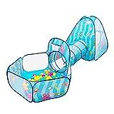Tienda De Playa Tienda Campaña Refugio Playa 3 En 1 Ocean Shuttle Toy Carpa Túnel Impermeable Baby Playhouse Niños Carpa Túnel Juguetes para Niños Piscina De Bolas De Tres Piezas