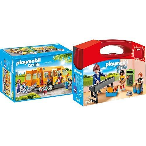 Playmobil 9419 - Schulbus Spiel &  9321 - Musikunterricht Spiel