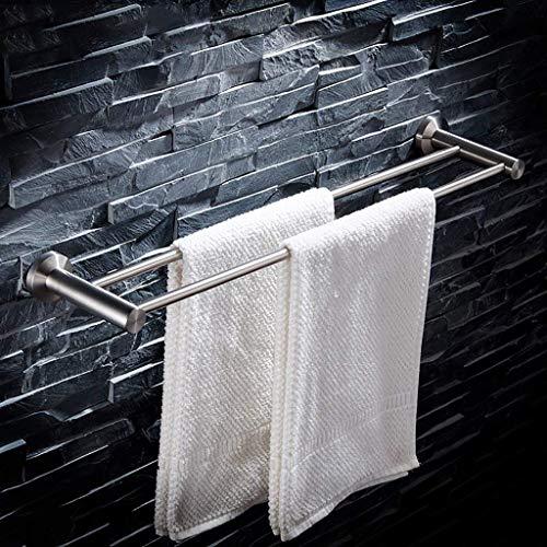 WEM Hogar, estante para baño de hotel, barra de toalla doble cepillada de acero inoxidable 304, barra para colgar, toallero, 40/50/60/70/80/90 / 100Cm,70cm,70cm