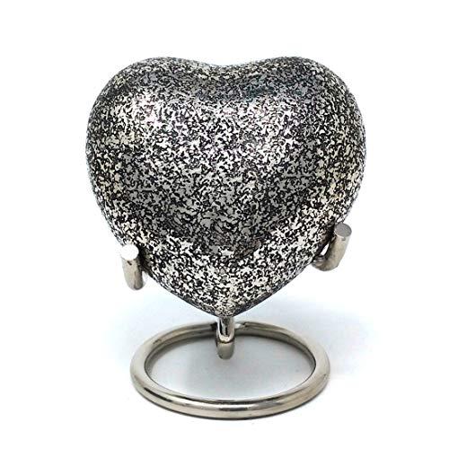 Urne pour cendres funéraires en laiton, Glenwood Urne funéraire cœur avec support