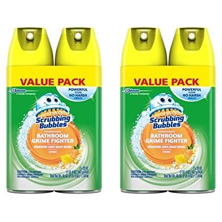 Amazon Com Scrubbing Bubbles Bathroom Grime Fighter Aerosol Citrus 20 Oz 2 Count Pack Of 2 Health Personal Care