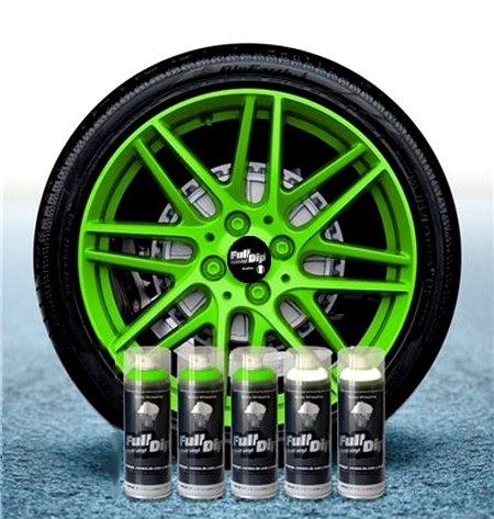 Sophisticauto Full Dip Packs Ahorro Llantas 5 Sprays Verde Fluo