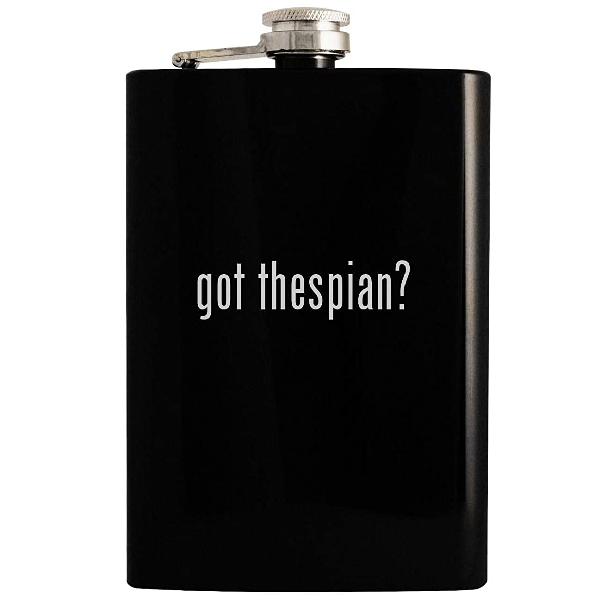 got thespian? - Black 8oz Hip Drinking Alcohol Flask