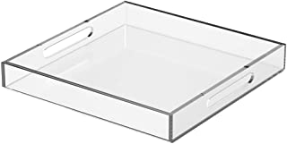 NIUBEE Lucite Serving Trays, 12x12