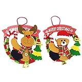 2 Stück Entzückende Weihnachtspuppe Girlande Weihnachtsbaum hängen Dekoration Fenster Anhänger...