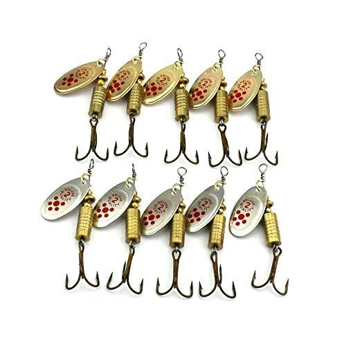 Yebobo 10 Stueck ffel Lure mit Klinge 10 x 7g Drehen Harter der Schleppen und Bass Forelle Hecht Lure