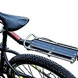 Goodvk Portabicicletas Trasero Moto interurbana Portador de Soportes de w/Tija de sillín de liberación rápida de Montaje Trasera Universal Fácil de Instalar y Quitar