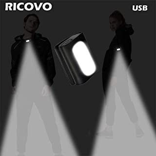RICOVO LED Clip on Safety Light - Super Bright USB Rechargeable Lightweight Strong Magnetic Night Light - Great for Night Walking Running Hiking Camping