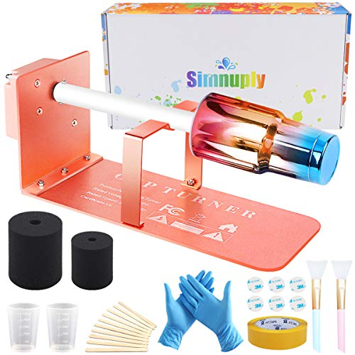 Cup Turner for Crafts Tumblers - Electric Cuptisserie Tumbler Spinner Machine with 2 Ways Rotation Silent Motor 2 Forms for DIY Glitter Epoxy Crafts Tumbler by Simnuply