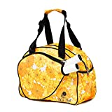 Pik'le'Ball Women's Premium Pickleball Bag. The Original Pickleball Tote. Water Bottle Holder, Racquet/Paddle Case, Fits More Than 2 Paddles. Athletic Bag, Sling Bag, Pink/Blue (Yellow Flower)