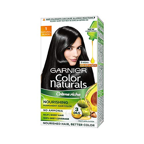 Garnier Color Naturals Nourishing Permanent Hair Color Cream - Natural Black 1 Set