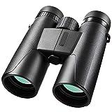 QPY Binoculares, Binoculares 10x42 HD Binoculares compactos Binoculares Impermeables para niños y Adultos para observación de Aves, Senderismo, Caza, Turismo, binoculares con Lentes FMC