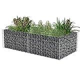 Estink Gavión alto, jardinera para piedras, cesta de alambre de acero galvanizado, 180 x 90 x 50 cm (largo x ancho x alto)