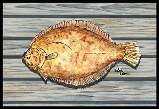 "Caroline's Treasures Fish Flounder Indoor or Outdoor Doormat, 24"" x 36"", Multicolor"