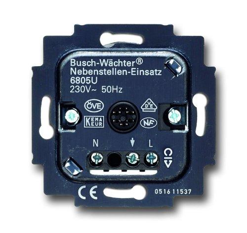 Busch-Jaeger 2471642 6805 U Busch-Wächter Nebenstellen-Einsatz 6805 U