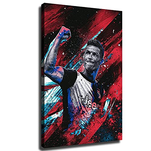 YHML Póster de la Juventus de Ronaldo Goal Celebration Poster Deportes Fútbol Decoración de Pared Decoración de Sala Lienzo Art45 x 61 cm