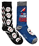 Hyp Friday the 13th Jason The Day Everyone Fears Men's Crew Socks 2 Pair Pack