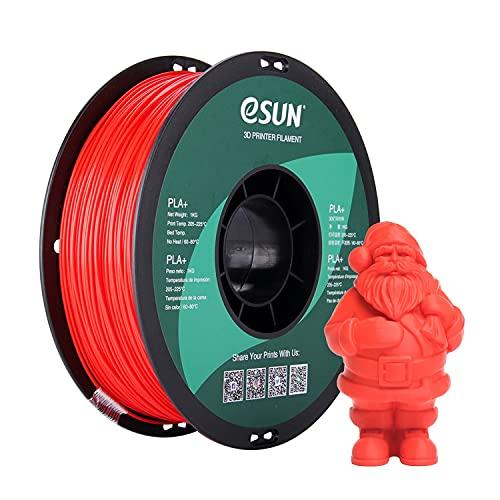 eSUN Filamento PLA Plus 1.75mm, Stampante 3D Filamento PLA+, Precisione Dimensionale +/- 0.03mm, Bobina da 1KG (2.2 LBS) Materiali di Stampa 3D per Stampante 3D, Rosso