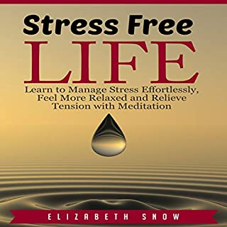 Stress Free Life: Learn to Manage Stress Effortlessly, Feel More Relaxed and Relieve Tension with Meditation audiobook cover art