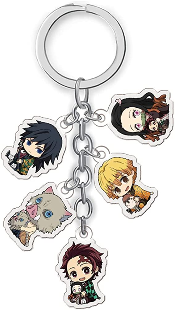 Anime Keychains Tree Hanging Pendant Ornament Acrylic Keyring Accessories Cosplay Anime Charm