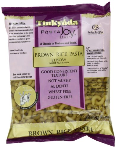 Tinkyada Brown Rice Pasta, Elbows, 16 Ounce (Pack of 12)