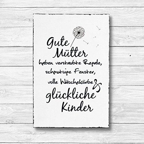 Gute Mütter - Dekoschild Wandschild Holz Deko Wand Schild 20x30cm Holzdeko Holzbild Geschenk Mitbringsel Geburtstag